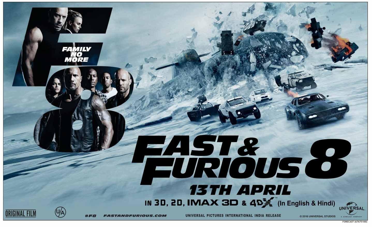 The Fast and Furious 8 ฟาสต์แอนด์ฟิวเรียส 8 เร็ว…แรงทะลุนรก 2017